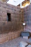Inca Wall na cidade antiga de Machu Picchu, Peru, exemplo de Ámérica do Sul. da alvenaria poligonal Foto de Stock Royalty Free