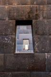 Inca Wall na cidade antiga de Machu Picchu, Peru, exemplo de Ámérica do Sul. da alvenaria poligonal Imagem de Stock