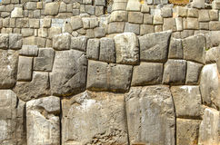 Inca wall of perfectly fitting mega stones Royalty Free Stock Photography