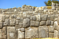 Inca wall of perfectly fitting mega stones Stock Photography