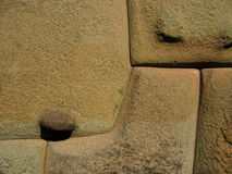 Inca Wall - Peru. A detail on one of the Inca walls in Cuzco, Peru Royalty Free Stock Photography