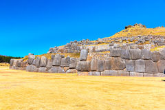 Inca Wall in SAQSAYWAMAN, Peru, South America. Example of polygonal masonry. The famous 32 angles stone Royalty Free Stock Photography