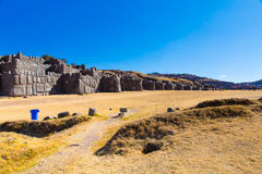 Inca Wall in SAQSAYWAMAN, Peru, South America. Example of polygonal masonry. The famous 32 angles stone Stock Photo