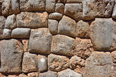 Inca wall in the village Chinchero, Peru Royalty Free Stock Photo