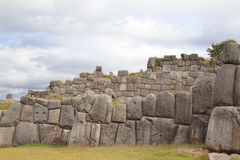 Inca Walls. The walls of the old Inca fortified sacred town of Saqsaywaman royalty free stock photo