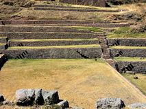 Inca walls and terraces at Tipon, Peru Stock Photography