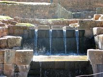 Inca water feature at Tipon near Cusco, Peru Stock Photo