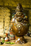 Inca water vase royalty free stock image