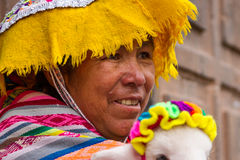 Inca Woman in Costume Stock Photo