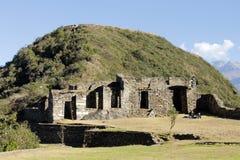 Incaen fördärvar av Choquequirao, Peru. Fotografering för Bildbyråer