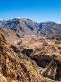 Incan террасные поля в долине Colca Стоковые Фото
