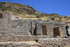 Incan Culture. View of the ruins of the Inca construction -Peru Stock Images