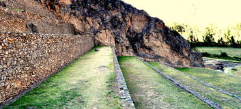 Incan plantation. A inca´s irrigation system Royalty Free Stock Images