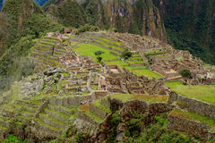 The Incan ruins of Machu Picchu in Peru Stock Images