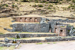 Incan Ruins of Tambomachay Royalty Free Stock Photography
