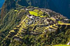 Incan ruiny Mach Picchu w Peru Zdjęcia Royalty Free