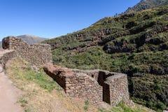 Incan ruiny przy Pisac, Peru Obrazy Stock