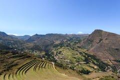 Incan ruiny przy Pisac, Peru Zdjęcie Royalty Free