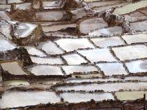 Incan salt flats Salineras de Maras Stock Images