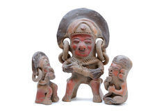 Incan Sculptures. Inca sculptures isolated on white Stock Photography