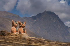 Incan skulpturer Arkivbild