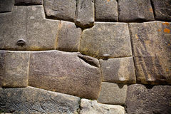 Incan stone wall, Peru Stock Image
