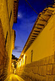 Incan street- Cusco, Peru Royalty Free Stock Photos