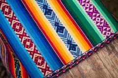 Incan tyg Handcraft, Sydamerika Arkivbilder