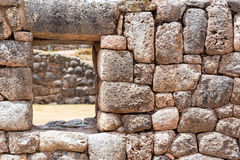 Incan Wall near Cuzco, Peru Royalty Free Stock Photo
