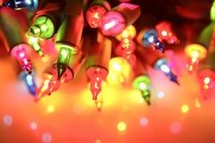 Incandescência das luzes de Natal Fotografia de Stock
