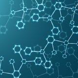 Incandescência do ADN da molécula Imagem de Stock Royalty Free