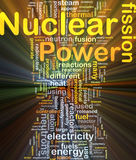 Incandescência do conceito do fundo da energia nuclear Imagens de Stock
