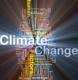 Incandescência do conceito do fundo da mudança de clima Foto de Stock Royalty Free