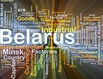 Incandescência do conceito do fundo de Bielorrússia Fotografia de Stock