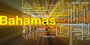 Incandescência do conceito do fundo do Bahamas Imagens de Stock