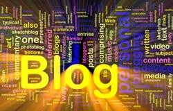 Incandescência do conceito do fundo do blogue do Web ilustração do vetor
