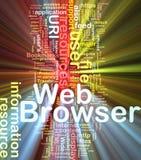 Incandescência do conceito do fundo do web browser ilustração do vetor