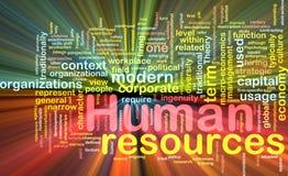 Incandescência do conceito do fundo dos recursos humanos Fotografia de Stock Royalty Free