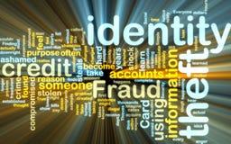 Incandescência do wordcloud do roubo de identidade ilustração do vetor