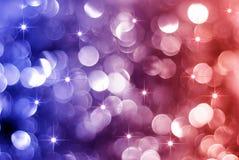 Incandescência luzes vermelhas e azuis do feriado Imagem de Stock Royalty Free