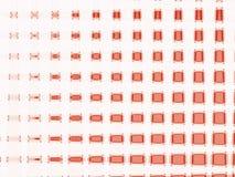 Incandescência vermelho no branco Imagem de Stock Royalty Free