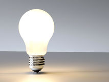 Incandescence 3D lightbulb design background Stock Photos