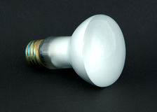Incandescent Bulb. On black background Stock Photography