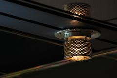 Incandescent Ceiling Lamp Royalty Free Stock Photography