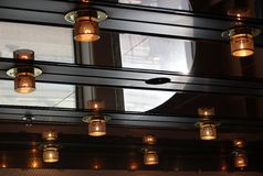 Incandescent Ceiling Lamps Royalty Free Stock Image