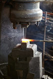 Incandescent element in the smithy Stock Photo