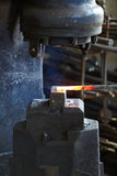 Incandescent element in the smithy Stock Photography