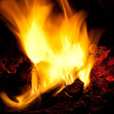 Incandescent embers background Stock Photos