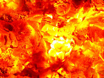 Incandescent embers Royalty Free Stock Image