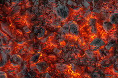 Incandescent embers texture Stock Images